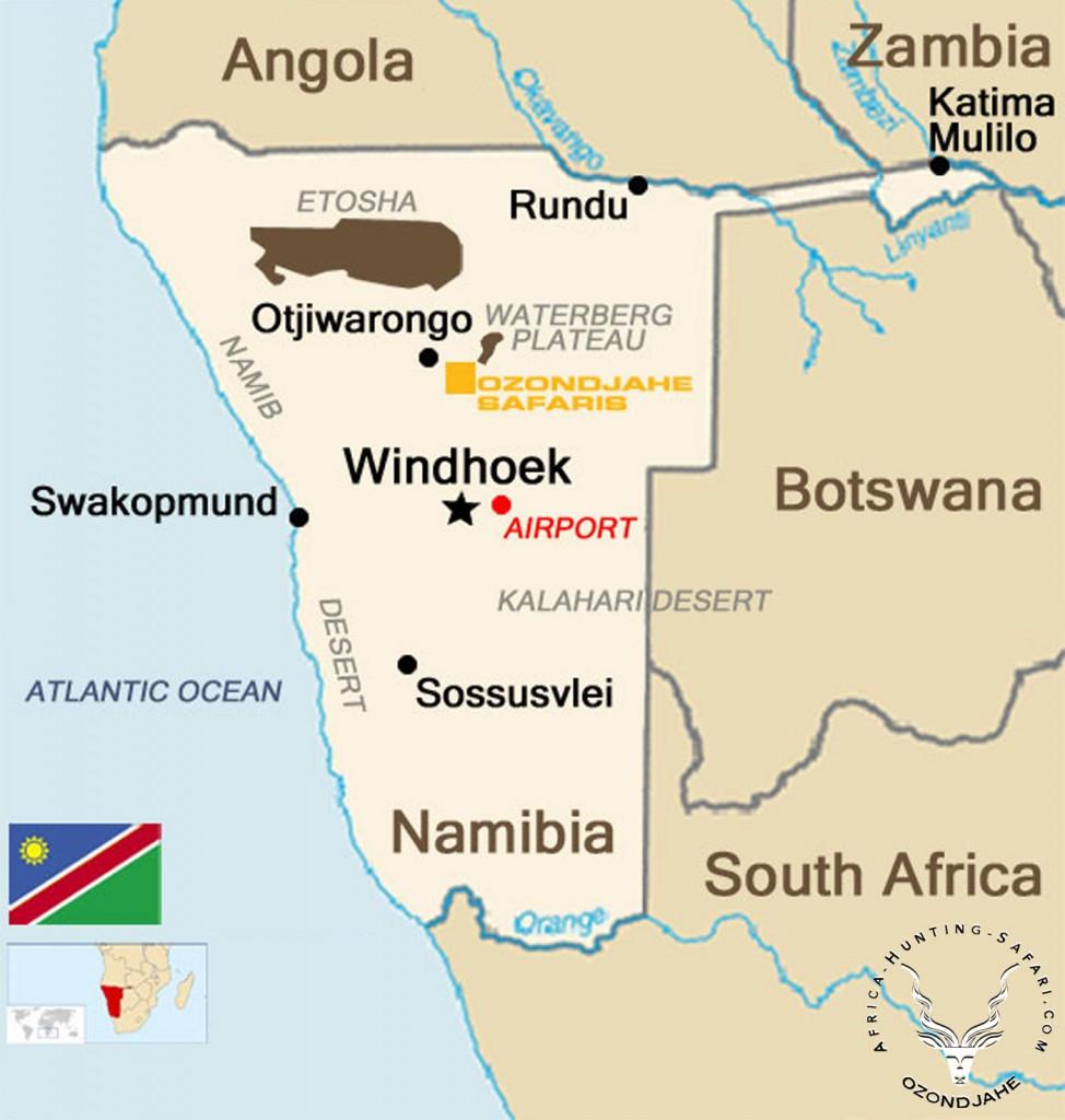 hunting-namibia-map