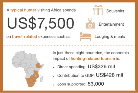 typical hunter spending Africa